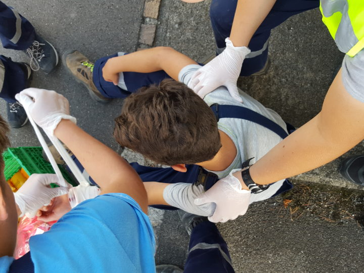 Übung mit der Jugendfeuerwehr